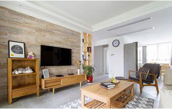 富裕型130平米三室两厅宜家风格影音室图