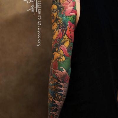 花臂作品纹身图