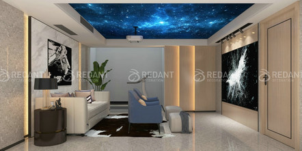 140平米别墅北欧风格影音室设计图
