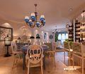 120平米三室两厅地中海风格餐厅装修案例