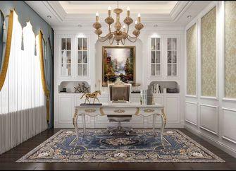 140平米四室一厅欧式风格书房图片大全