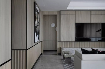 130平米四室两厅英伦风格客厅装修案例