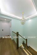 20万以上140平米复式美式风格楼梯图片