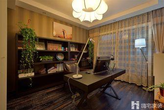80平米现代简约风格书房家具图