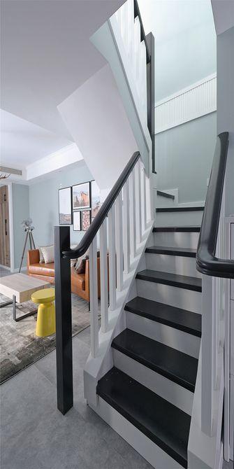 140平米三室两厅北欧风格楼梯间设计图