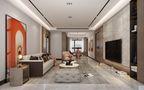 120平米四室四厅中式风格客厅设计图