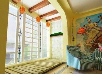 100平米三室两厅地中海风格阳台效果图