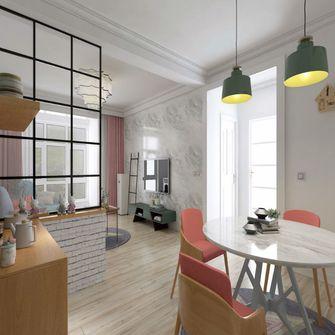 100平米田园风格餐厅设计图