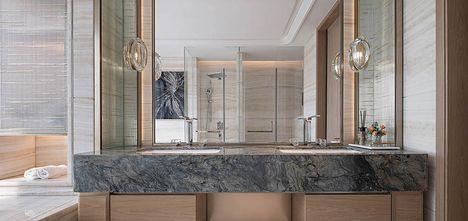 140平米三室两厅法式风格卫生间图片