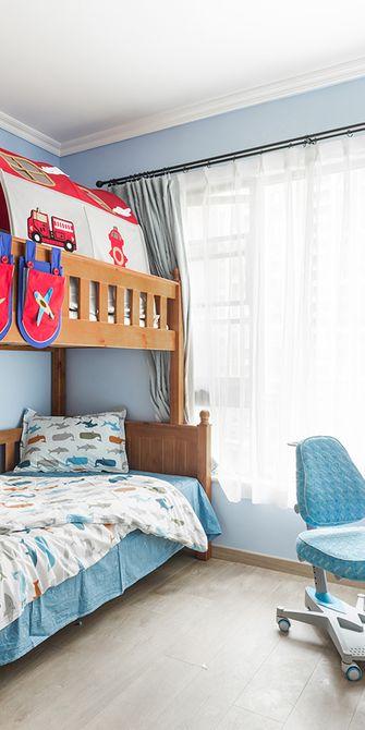 140平米三室一厅混搭风格儿童房图