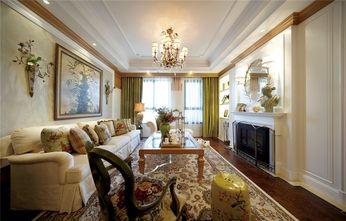 90平米三室一厅田园风格客厅图