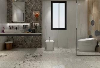 140平米中式风格卫生间设计图