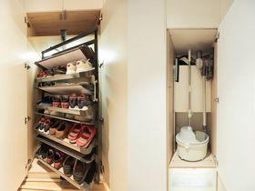 經濟型120平米三室一廳北歐風格衣帽間圖