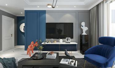 110平米三室一厅混搭风格客厅图片大全