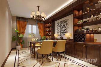130平米三室一厅美式风格餐厅装修效果图