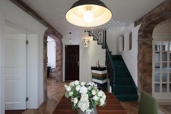 110平米复式田园风格楼梯间装修图片大全