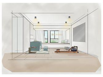 80平米一室一厅北欧风格影音室图片