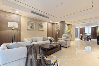 富裕型140平米四室两厅现代简约风格客厅图
