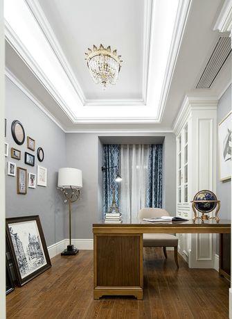 140平米三室两厅欧式风格书房图