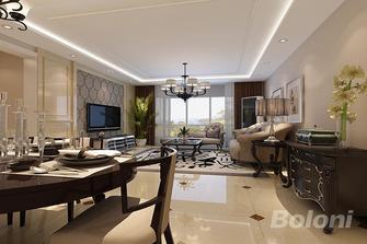 120平米三室一厅美式风格餐厅装修效果图