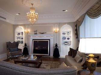 130平米四室两厅地中海风格客厅设计图