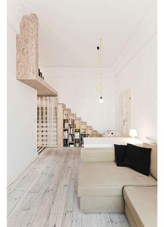 70平米日式风格楼梯间图