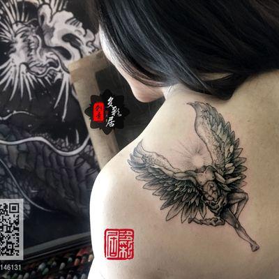 权志龙同款天使纹身图