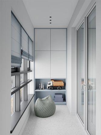 120平米三现代简约风格阳台设计图