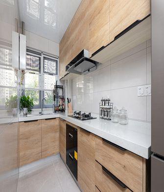 110平米三室一厅现代简约风格厨房欣赏图