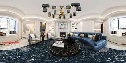 140平米别墅美式风格客厅图