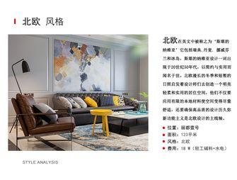 富裕型120平米三室两厅美式风格客厅图