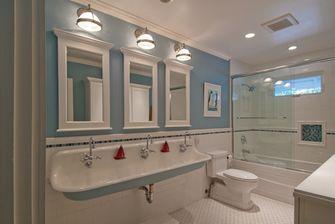 120平米三室两厅地中海风格卫生间图片大全