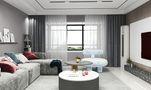 120平米三室两厅地中海风格客厅图