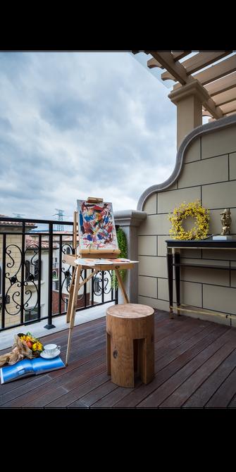 140平米别墅法式风格阳台欣赏图