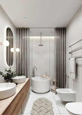 100平米公寓现代简约风格卫生间图片