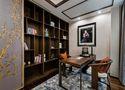 120平米三室一厅中式风格书房装修效果图