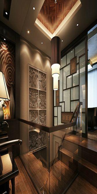 富裕型140平米四室两厅其他风格楼梯效果图