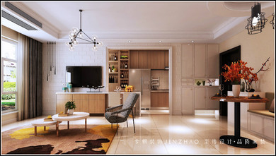 90平米新古典风格客厅图