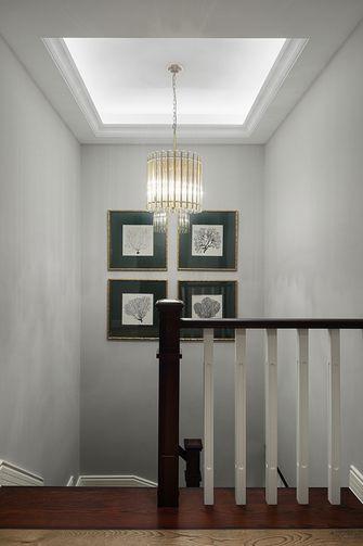 140平米复式美式风格楼梯间装修效果图