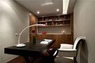 富裕型140平米三室两厅英伦风格书房图