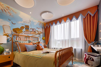 120平米三室一厅美式风格儿童房图