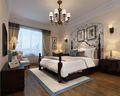 130平米三室两厅田园风格卧室装修效果图