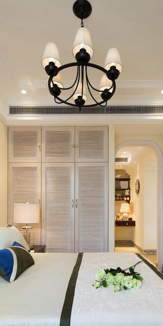 130平米三室一厅地中海风格卧室装修图片大全