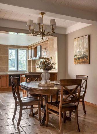 140平米三室一厅田园风格餐厅欣赏图