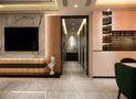 130平米三室两厅北欧风格储藏室欣赏图