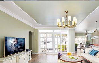 富裕型120平米三室两厅田园风格影音室图片大全