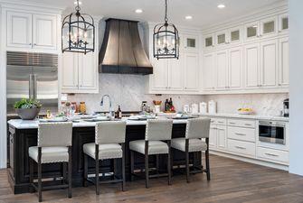 140平米复式地中海风格厨房装修图片大全