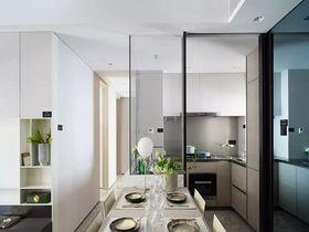 80平米三室兩廳現代簡約風格餐廳圖