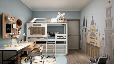 140平米复式英伦风格儿童房装修图片大全