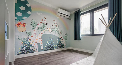 110平米三美式风格儿童房设计图